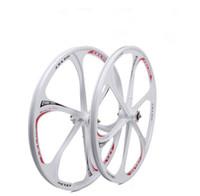 12 rodas de bicicleta venda por atacado-Atacado - 26 polegadas de liga de magnésio rodas integradas Dual Disc Mountain Bike rodas de bicicleta roda conjunto de rodas de bicicleta frete grátis