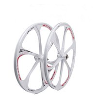 disk gönderimi toptan satış-Toptan -26 inç Magnezyum Alaşımlı Entegre tekerlekler Çift Disk Dağ Bisikleti Jantlar Bisiklet Tekerlek Set Bisiklet Tekerlekleri ücretsiz kargo