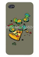 Wholesale Iphone 4s Turtle Cases - Custom Small Turtles Eat Pizza good quality TPU Case for iPhone 4, 4s, 5, 5s,5c, 6 iphone 6 plus Best Durable phone cases