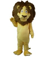 traje de león amarillo al por mayor-mb007 mascota león león traje amarillo para adultos para usar