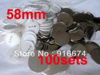Wholesale Pinback Button Set - Wholesale-Fast Free shipping Discount 58mm 100 Sets Professional Badge Button Maker Pin Back Pinback Button Supply Materials