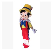Wholesale Pinocchio Movies - 2015 NEW High quality Pinocchio Mascot Costume, Adult Halloween Fancy Dress Cartoon Character Outfit Suit, Free Shipping