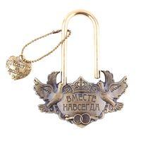 "Wholesale bird locked - Wholesale- Unique souvenirs.Love birds, dove. lock love bridge.memorial locks crafts.ceremony decoration,""Forever together"" castle wedding"