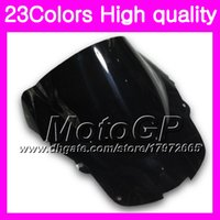 23Colors parabrisas para HONDA CBR1100XX Blackbird 1100XX 1996 1997 1998 1999 2000 2001 96-07 Chrome Black GPear Smoke Windshield