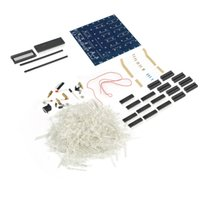 led para pcb board blanco al por mayor-Al por mayor-3D Squared DIY Kit 8x8x8 3mm LED Cube White LED Blue / Red Light PCB Board Wholesale