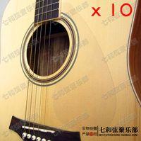 ingrosso chitarra pick guardie-10 pezzi trasparente chiaro folk chitarra acustica battipenna pick guardia piastra antigraffio