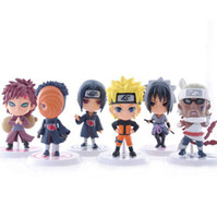 Wholesale models resale online - 6 design Naruto Q Edition Naruto Anime Action Figures Collection toys new Children Naruto Cartoon PVC Figures Model toys B001
