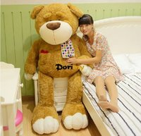 Wholesale Super Large Teddy Bear - Dorimytrader 59''   150cm Huge Stuffed Super Soft Lovely Plush Large Teddy Bear Toy, Nice Gift For Babies, Free Shipping DY60216