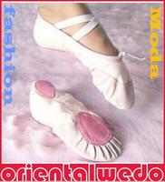 Wholesale Dance Shoes For Ladies - Min. order qty 2pairs pls Size23~44 15~26cm children soft sole girls ballet shoes Women Ballet Dance Shoes for kids adult ladies 4 color new