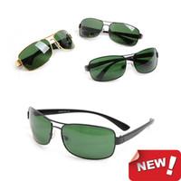 ingrosso lente di vetro unisex-Occhiali da sole New Fashion Occhiali da sole firmati Brand occhiali da sole da donna da uomo 3379 Occhiali da sole con lenti in vetro unisex occhiali con scatola glitter2009