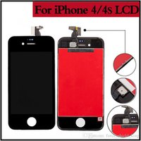 Wholesale Original Iphone 4s Assembly - Front Glass Assembly+Original LCD Digitizer Screen White or Black For Ecran iPhone 4 4s LCD Good Quality