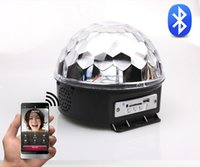 Wholesale Cheapest Led Strobe - Cheapest Bluetooth Control LED RGB Crystal Magic Ball Effect Light for KTV Bar Club Party Free Shipping