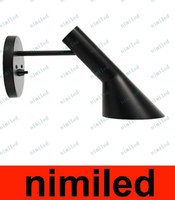 nimi605 moderne Noir / Blanc Louis Poulsen AJ Arne Jacobsen Creative Wall Lamp Sconce 1 Lighting Light For Chambre Salon Aisle Bar KTV