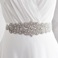 Wholesale Accesories Women Free Shipping - S233 Cheap Crystal Rhinestone Belt Fashion Bridal Sash Accesories Dress Sash Exquisite Handmade Accessories Free shipping