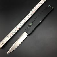 Wholesale Custom Tactical Swords - Halo V 5 Custom made Elmax blade Micro Abalone 6061 aluminum CNC handle Sword mark Auto survival Tactical knife pocket knives