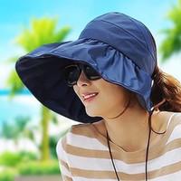 Wholesale Women Summer Anti Uv Hat - Summer Fashion Women Wide Brim Roll Up Empty Top Sun Beach Hat Anti-UV Visors Cap Foldable Mix Colors