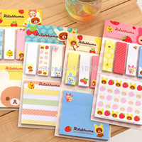 Wholesale New Rilakkuma Sticky Notes Post It Notes Memo Flags Removable Adhesive Paper Hot Office School Supplies Color Send At Random