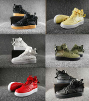 Wholesale boot lace zippers - Special Field SF Air 1 Mid Men Women Casual shoes unisex outdoor Walking Shoes BOOTS zipper Skateboard shoes 36-45