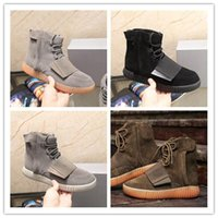 Wholesale Y3 Boots - 2017 Autumn and winter Y3 male boots Kanye West Boots shoes Boost 750 luminous leisure sports leather men's Running shoes size 36-46