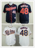 Wholesale Number Hunter - 30 Teams- New Cheap Mens 2015 New Minnesota Twins Jerseys #48 Torii Hunter Baseball Jersey,100% Stitched Name And Number,Accept Mix Order