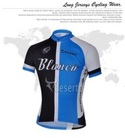 Wholesale Giant Blanco Jersey - Wholesale-free shipping 2015 Blanco Giant short sleeved cycling jersey and bib shorts set strap riding a bicycle best clothing sports wear