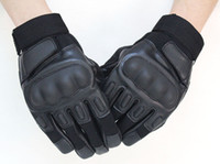 Wholesale high fashion leather gloves - High quality Outdoor Sports Camping Military Tactical Gloves Man Fashion Swat Airsoft Hunting Motorcycle Cycling Racing gloves