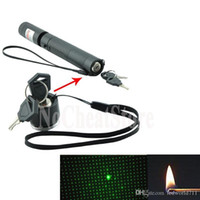 Wholesale New LED Laser Pointers nm Green Light Laser Pointer Focusable Burn Match Cigarettes LED Laser Pen Green Flashlight