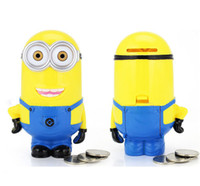 Wholesale Despicable Saving Box - 2015 Gift New Lovely Stealing Coins Despicable me Minion Cent Penny Saving Money Box Pot Case Piggy Bank