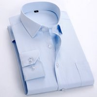 Wholesale Shirt Men Brand Elegant - Wholesale-2016 Solid Elegant Men Long Sleeve Dress Shirt 14 colors Brand Cloth Casual Designer Cotton Solid Fitted Tops Size S-4XL