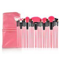 Wholesale Professional Makeup Portable Bag - Portable professional Makeup Cosmetic Brush Full Cosmetic Brushes Tool Foundation Eyeshadow Lip brush with Bag 4 24pcs set d020
