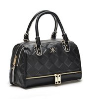 Women blue diamond chain - Fashion kardashian kollection brand black chain women handbag shoulder bag big bag KK Bag totes messenger bag free shopping