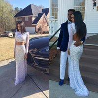 Wholesale 2k15 for sale - Group buy Fabulous k15 Prom Dresses Blingn Bling Colorful Crystals Long Formal Evening Party Gowns Two Pieces Open Back Illusion Long Sleeves Custom