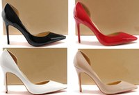 Wholesale Empty Dresses - [Original box]Free Shipping2018 Pumps luxury brand classic Women high heels shoes red bottom,Heel height:8&10&12CM,Size:35-41,One side empty