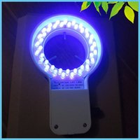 Freeshipping 48 STÜCKE LED Mikroskop UV Ring Lampe 60mm Innendurchmesser Lila Farbe Ring Licht mit Adapter für Mikroskopbeleuchtung
