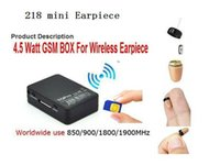 Wholesale Gsm Audio - Free Shipping New 4.5 W GSM Box for Hidden In Ear Audio Receiver wireless 218 earpiece Kit
