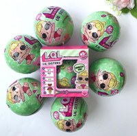 Wholesale Wholesale Cute Dolls - Cute Toys 7.5cm LOL Surprise Doll Lil Sisters Series Ball lol sorpresa with Various Style Baby puppets Dolls with Retail Box
