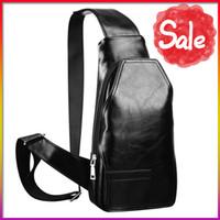 Wholesale Camera Bag Pack - Wholesale-PU leather chest bag men camera sling bag men business bolsa masculina crossbody chest pack travel sports pouch bag for men