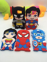 Superman Captain America Batman Étui en silicone doux 3D Star Hero Warrio pour Iphone 6 6S 4.7 Plus 5.5 I6 Samsung Galaxy S6 Edge S5 luxe pour la peau