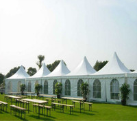 Wholesale White Tent Party - Outdoor Decor Outdoor Tent Party Wedding Noble Folding Canopy Party Outdoor Wedding Tent Heavy duty Gazebo Pavilion Cater Events Aluminum Al