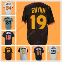 Tony Gwynn Jersey San Diego Cooperstown Maglie Dave Winfield Rollie Fingers Trevor Hoffman Home Away Pullover Flexbase