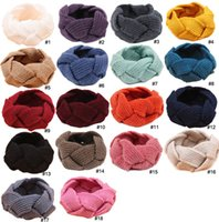 Wholesale Fashion Hair Band Handmade - 18 colors Weave Braid Twining headband Woolen Knit Warm earmuffs Stretchy hair band cuff women headwear Bandanas winter Accessories 170217