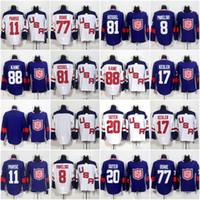 Wholesale hockey jersey kesler - 2016 Team USA World Cup Ice Hockey Jerseys 88 Patrick Kane 17 Ryan Kesler 8 Joe Pavelski 32 Jonathan Quick 77 TJ Oshie Stitched Jersey