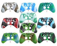 Wholesale Protective Case Xbox - 10 Colors Choice Camouflge Silicone Case Skin Joysticks Protective Cover For Xbox one Game Controller Rubber Case