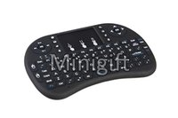 Wholesale Tv Wifi Keyboard - Rii i8 Remote Fly Air Mouse Keyboard Combo Wireless 2.4GHz Keypad For MXQ M8 M8S WIFI Bluetooth Amlogic S905 Android 5.1 4K TV BOX 100pcs