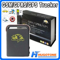 Wholesale Car Alarm Shock Sensors - Quadband Car GSM GPS Tracker TK102-2 Child GPS Shock Sensor Alarm Function With 2 Batteries Multifunctional Battery Chargers