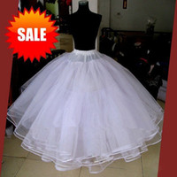 Wholesale Best Sale Dresses Wedding - Best Sale White 3 Layers Wedding Accessories Petticoats For Wedding Dress Tulle Underskirt Ball Gown Petticoat Skirt Stock