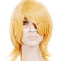 ingrosso capelli umani classici-Parrucca cosplay anime Cool2day bionda Shorth spalla lunghezza anime costume JF011015