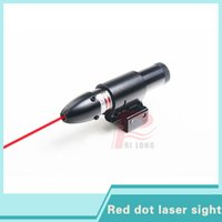 Wholesale Tactical Shotgun Red Dot Sights - Tactical Red Dot Laser Sight Aluminum Laser Sight Scope for Rifle Pistol Shotgun With Two Mounts 635-655nm 5mW HT3-0006R