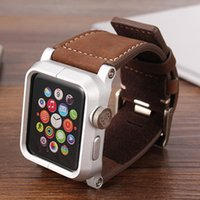 Wholesale Leather Watch Bands Chicago - Original chicago collection WatchBand For Apple Watch Strap+aluminum tray, Genuine Leather Wrist Band Strap