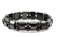 Wholesale tourmaline bracelets - SZ9 Radiation protection tourmaline bracelet health Black Tourmaline unisex magnet therapy women bracelet men retail and wholesale